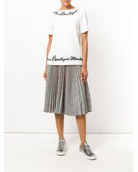 Boutique Moschino - White Appliqué Detail Top - Lyst