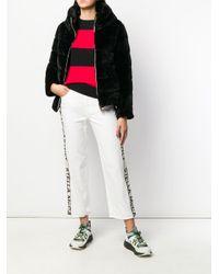 Herno Black Faux Fur Puffer Jacket