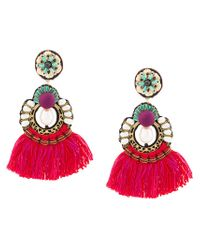 Ranjana Khan - Red Fringed Earrings - Lyst