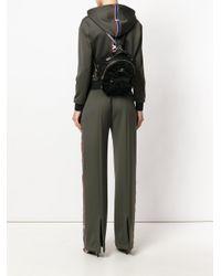 Versace - Black Textured Backpack - Lyst