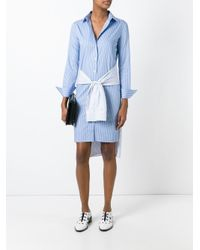 Maison Margiela | Blue Striped Shirt Dress | Lyst