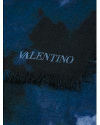 Valentino | Blue Garavani 'tie&dye' Scarf for Men | Lyst