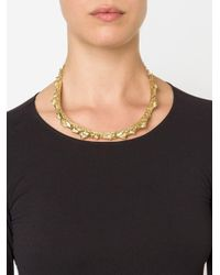 Henson - Metallic 'spine' Necklace - Lyst