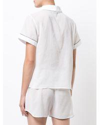 Morgan Lane - White Tami Pyjama Top - Lyst