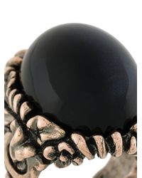 Ferragamo - Metallic Oversized Oval Ring - Lyst