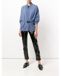 MM6 by Maison Martin Margiela - Blue Waist-tied Cardigan - Lyst