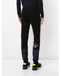 Iceberg - Black Embroidered Logo Track Pants for Men - Lyst