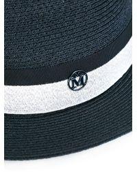 Maison Michel - Blue Woven Hat - Lyst