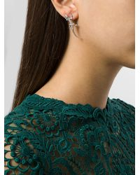 Wouters & Hendrix - Metallic Lizard & Baguette Diamond Earrings - Lyst