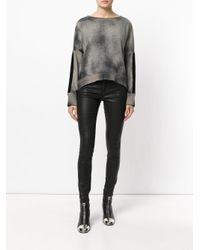 Avant Toi - Gray Tie Dye Sweater - Lyst