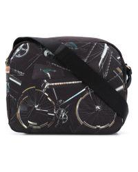 Paul Smith - Black Bicycle Print Messenger Bag for Men - Lyst