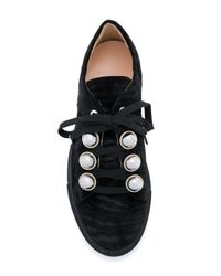 Carven Black Panelled Sneakers