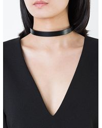 Clane | Black Skinny Choker Necklace | Lyst