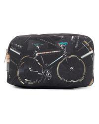 Paul Smith - Black Bike-print Wash Bag - Lyst