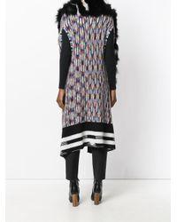 Missoni - Black Fur Trim Knitted Cape - Lyst