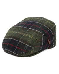 0d2e0830b4f Barbour Checked Flat Cap for Men - Lyst