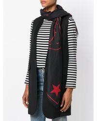 Givenchy - Black Sciarpa Con Disegno Di Rottweiler - Lyst