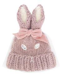 CA4LA - Pink Rabbit Ears Beanie - Lyst