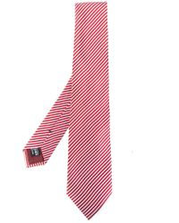 Giorgio Armani - Red Diagonal Stripes Tie for Men - Lyst