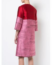 Oscar de la Renta - Pink Flared Open Coat - Lyst