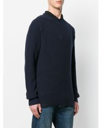 G-Star RAW - Blue Logo Patch Jumper for Men - Lyst