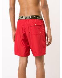 Versace - Red Iconic Greca Medusa Swim Shorts for Men - Lyst