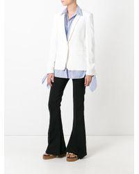 MSGM - White Single Button Blazer - Lyst