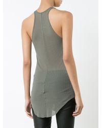 Rick Owens - Green - Long-length Vest Top - Women - Silk/viscose - 38 - Lyst