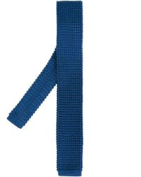 Lanvin - Blue Corbata Braided Tie for Men - Lyst