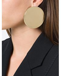 Givenchy - Metallic Oversized Disc Earrings - Lyst