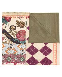 Pierre Louis Mascia - Multicolor Printed Patchwork Scarf - Lyst