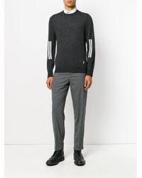 Neil Barrett - Gray Stripe Detail Jumper for Men - Lyst