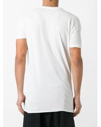Isabel Benenato - White Double Collar T-shirt for Men - Lyst
