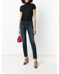 Dolce & Gabbana - Black Short Sleeved Turtleneck Top - Lyst