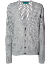 Paura - Gray V-neck Cardigan for Men - Lyst