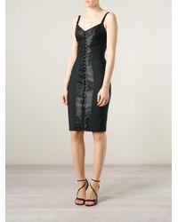 Dolce & Gabbana - Black Strappy Corset Dress - Lyst