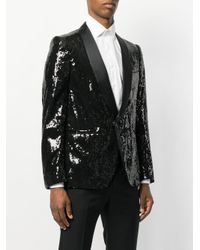 Christian Pellizzari - Black Sequin Smoking Jacket for Men - Lyst