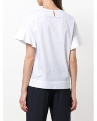 Peserico - White Round Neck T-shirt - Lyst