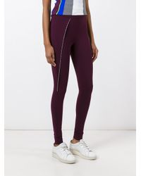 No Ka 'oi - Purple Embellished Detail Leggings - Lyst