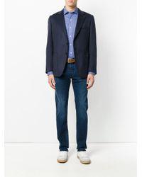 Polo Ralph Lauren | Blue Micro Check Collared Shirt for Men | Lyst