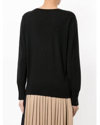 Astraet - Black V-neck Pull Over - Lyst