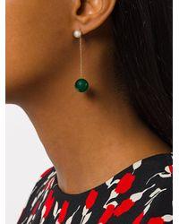 Delfina Delettrez - Green Virus Agate Earring - Lyst
