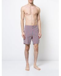 Onia - Red Calder Swim Trunks for Men - Lyst