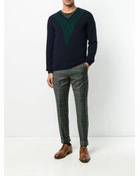 Mp Massimo Piombo - Blue Knit Striped Jumper for Men - Lyst