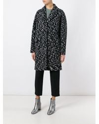 Carven - Black Oversized Tweed Coat - Lyst
