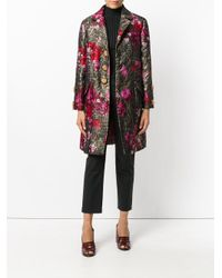 Dolce & Gabbana - Multicolor Floral Single Breasted Coat - Lyst