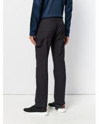 Gosha Rubchinskiy Blue Strap Detail Trousers for men