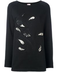 Antonio Marras - Black Embroidered Paisley Sweatshirt - Lyst