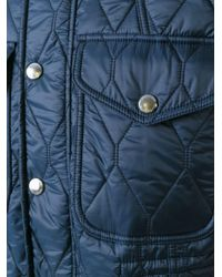 Burberry - Blue Quilted Jacket for Men - Lyst