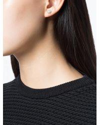 Ileana Makri - Metallic Embellished Stud Earring - Lyst